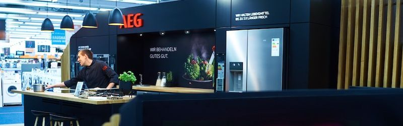 AEG POS Shop in Saturn Hamburg